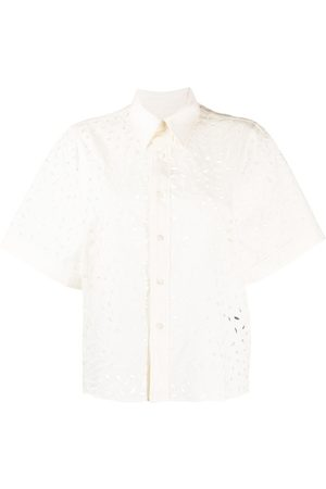 Ami WOMAN SHORT SLEEVES SHIRT WITH ALLOVER EMBROIDERY