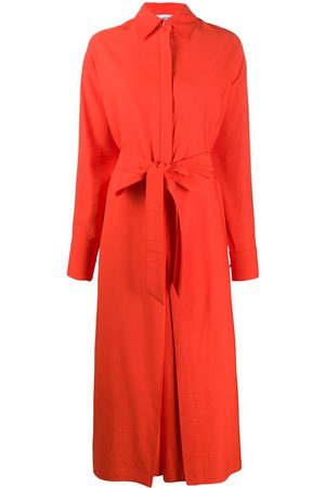 Ami Shirt-style belted jumpsuit