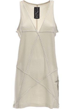 Rick Owens Damen Tunikakleider - Tunikakleid Aus Jerseymesh Mit V-ausschnitt