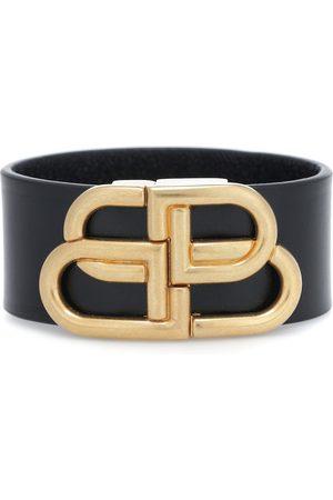Balenciaga Armband BB aus Leder