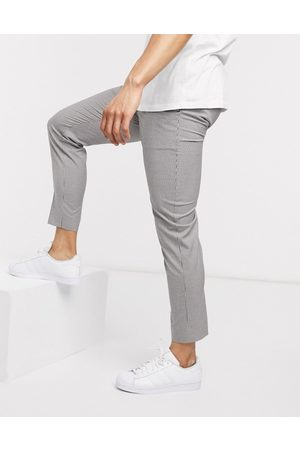 New Look Mini check trouser in off