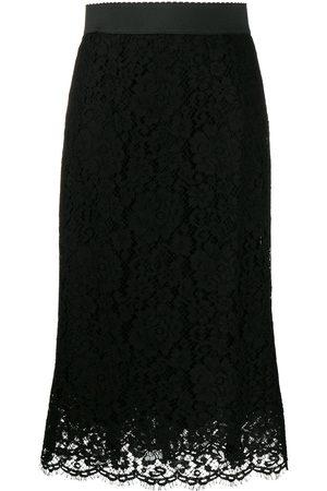Dolce & Gabbana Floral lace midi skirt