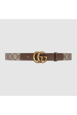 Gucci Damen Gürtel - GG Ledergürtel mit Doppel G Schnalle