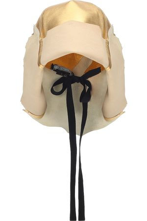 Prada Hut aus Metallic-Leder