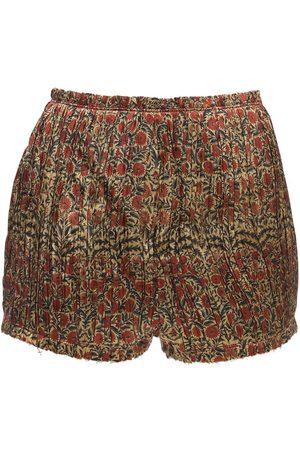 Khaite Hilary Plisse Viscose Twill Shorts