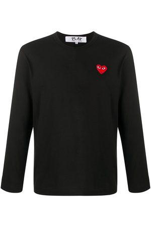 Comme Des Garçons Play Herren Lange Ärmel - Long sleeve heart patch T-shirt