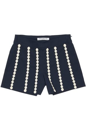 VIVETTA Stretch Cotton Poplin Shorts