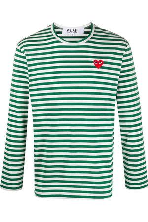 Comme des Garçons Herren Lange Ärmel - Striped long-sleeve T-shirt