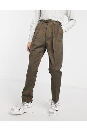 ASOS High waist wide leg trouser in stripe