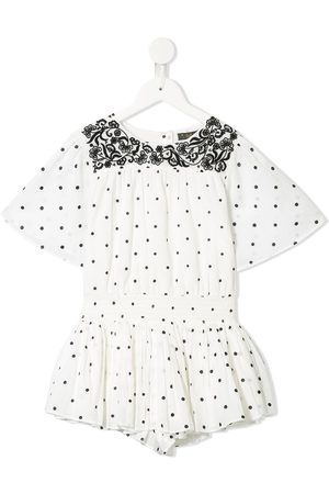 Velveteen Blair polka dot playsuit