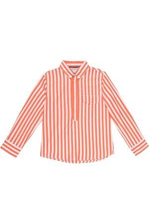 Brunello Cucinelli Exklusiv bei Mytheresa – Gestreiftes Hemd aus Baumwolle