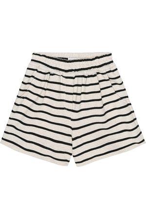 Brunello Cucinelli Exklusiv bei Mytheresa – Gestreifte Shorts aus Baumwolle