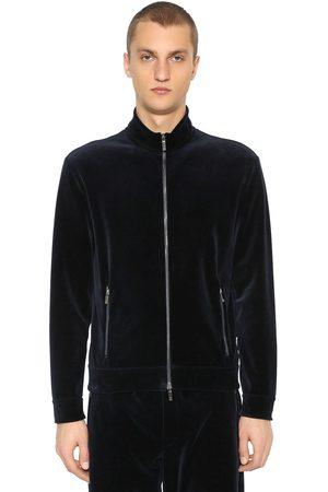 Armani Sweatshirt Aus Baumwollsamt Mit Zip