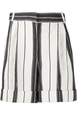 Alexander McQueen High-waist striped shorts