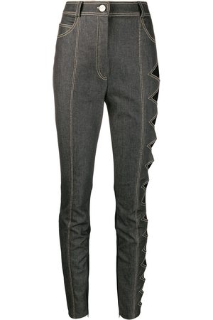 DAVID KOMA Side cut-out high rise skinny jeans