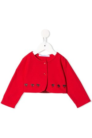 Familiar Jacken - Strawberry embroidered buttoned jacket