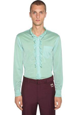 Prada Jerseyhemd Mit Rüschen