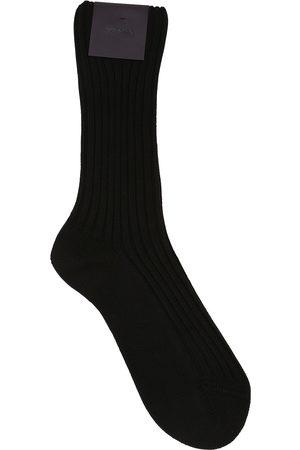 Prada Socken Aus Baumwolle Mit Logopatch