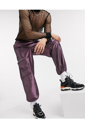 ASOS Wide leg joggers in with 3D cargo pockets