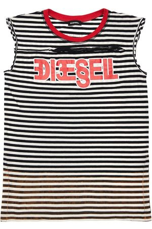 Diesel Gestreiftes Kleid Aus Baumwolljersey