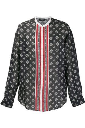 Dsquared2 Printed collarless shirt
