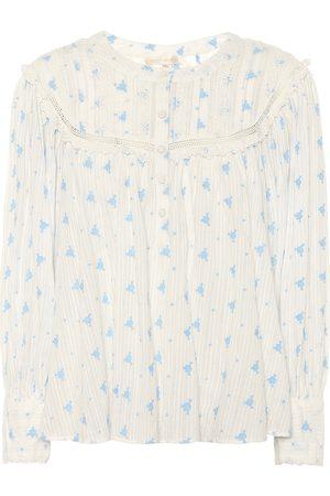 LOVESHACKFANCY Damen Lange Ärmel - Exklusiv bei Mytheresa – Bluse Dionne aus Baumwolle