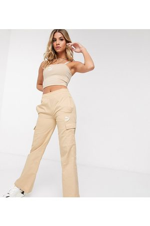 Puma Cargo wide leg trousers in beige