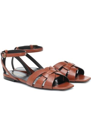 Saint Laurent Sandalen Tribute aus Leder