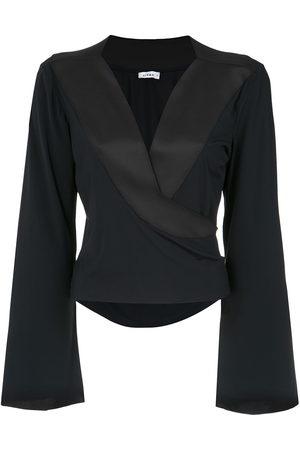 AMIR SLAMA Wrap style blouse