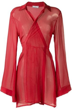AMIR SLAMA Damen Strandkleider - Sheer panel dress
