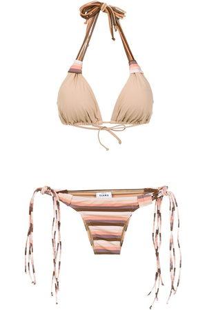 AMIR SLAMA Damen Bikinis - Striped bikini set
