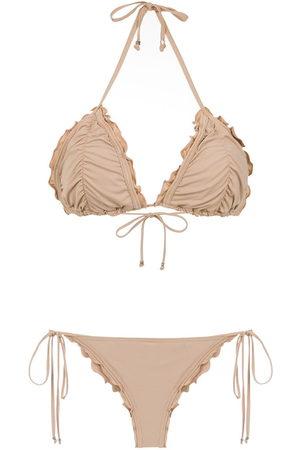 Amir Slama Ruched bikini set