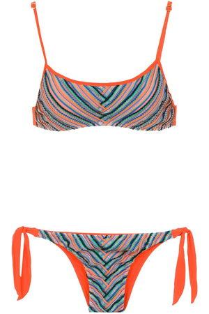 AMIR SLAMA Damen Bedruckte Kleider - Printed bikini top