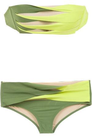 AMIR SLAMA Panelled bikini set