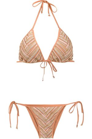 AMIR SLAMA Printed bikini set