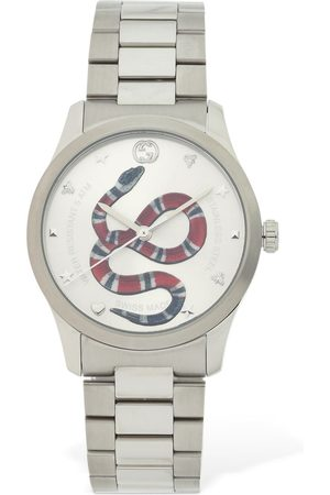 Gucci 38mm G-timeless Red Snake Dial Watch