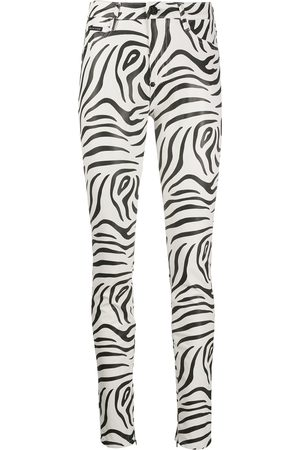 Philipp Plein Damen BHs & Bustiers - High-waisted zebra print trousers