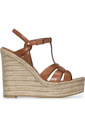 Saint Laurent Tribute 85mm espadrille wedge sandals
