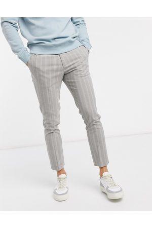 New Look Skinny crop stripe trousers in