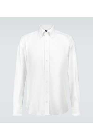 Thom Sweeney Langarm-Oxfordhemd aus Baumwolle