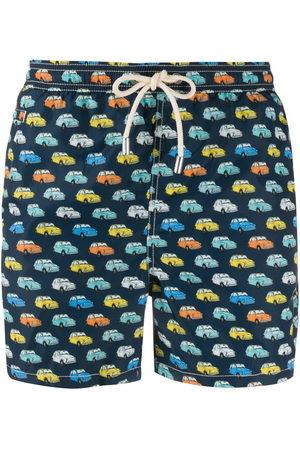 MC2 SAINT BARTH Herren Badehosen - Vintage car print swim shorts
