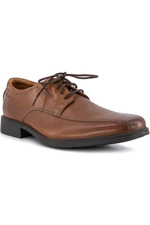 Clarks Herren Halbschuhe - Tilden Walk dark tan leather 26130095G