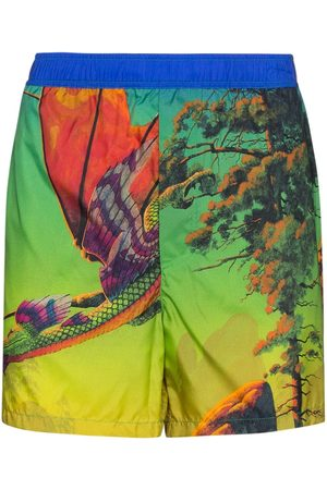 VALENTINO Dragon At Dawn print swim shorts