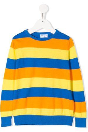 SIOLA Jungen Pullover - Striped crew-neck jumper