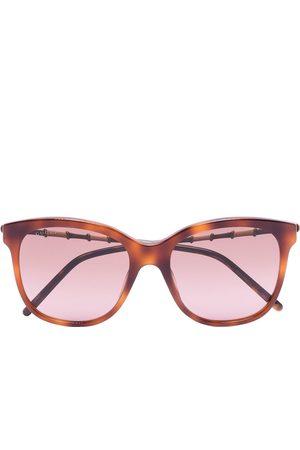 Gucci Tortoiseshell-effect square-frame sunglasses