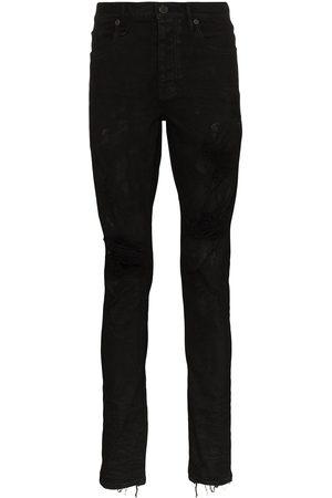 Purple Brand Herren Slim - Oil Spill slim fit jeans