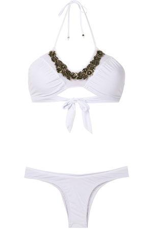 AMIR SLAMA Floral neck bikini set
