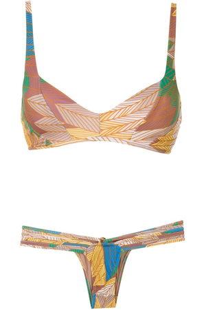 AMIR SLAMA Cocar Francês printed bikini set