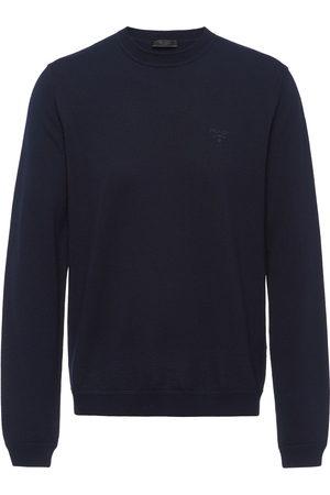 Prada Embroidered logo jumper