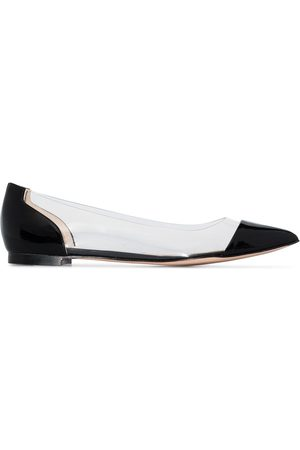 Gianvito Rossi Plexi ballerina shoes